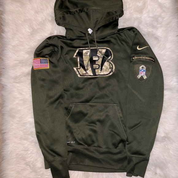 the best attitude a06b9 514f7 Nike Salute to Service Hoodie- Bengals